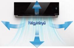 LG Artcool Stylist - G09WL oldalfali inverteres klíma távirányító